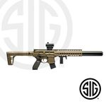 Submachine Sig Sauer MCX ASP FDE + Red Dot Co2 - 4,5 pellets