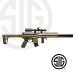 Submachine Sig Sauer MCX ASP FDE + Visor 1-4x24 Co2 - 4,5 pellets