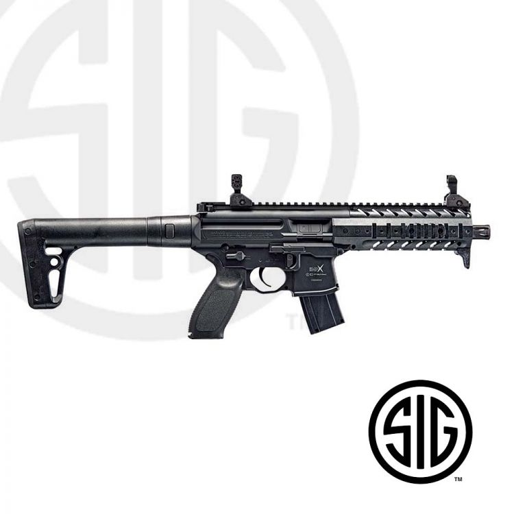 Submachine Sig Sauer MPX ASP Black Co2 - 4,5 pellets