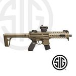 Submachine Sig Sauer MPX ASP FDE + Red Dot Co2 - 4,5 pellets