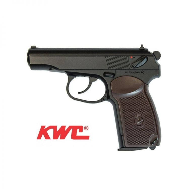 Pistola KWC Makarov PM 4,5 mm Full-metal Co2 Bbs Acero