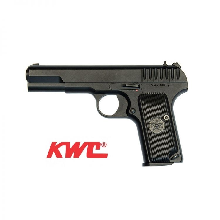 Pistola KWC Tokarev TT33  4,5 mm Full-metal Co2 Bbs Acero.