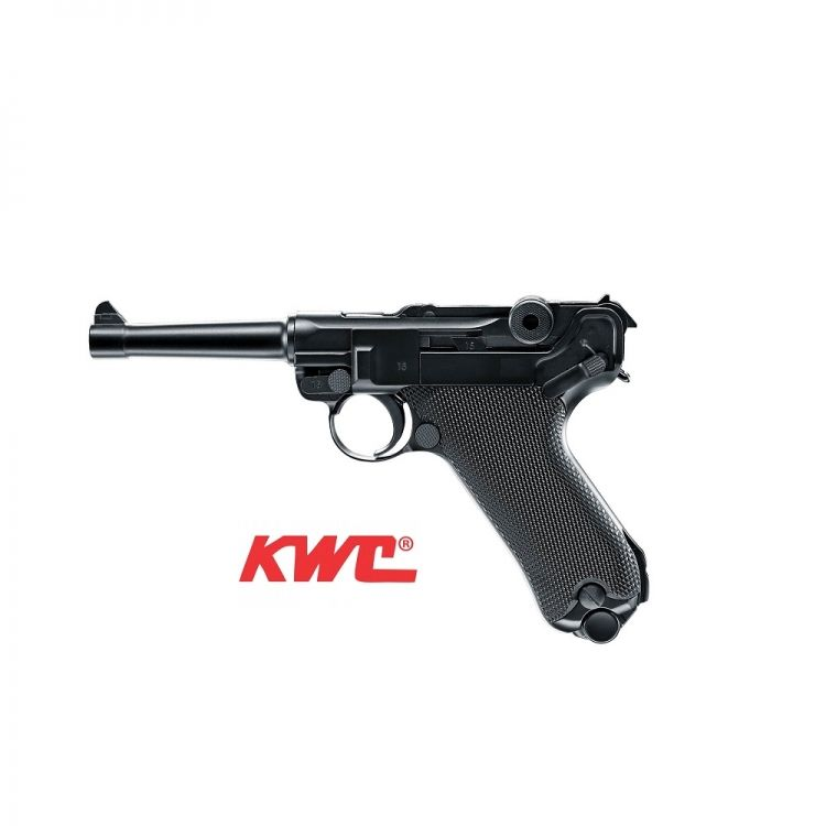 Pistola KWC P08 Ful Metal - Blow back Co2 4,5 mm BBs Acero