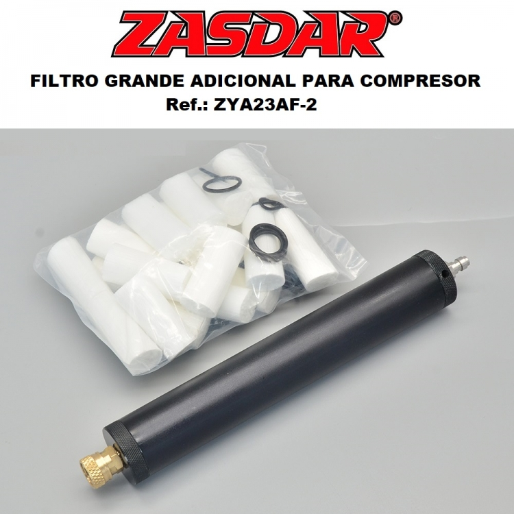 Large air filter with 320x35mm oil separator + foster-1/8 hose