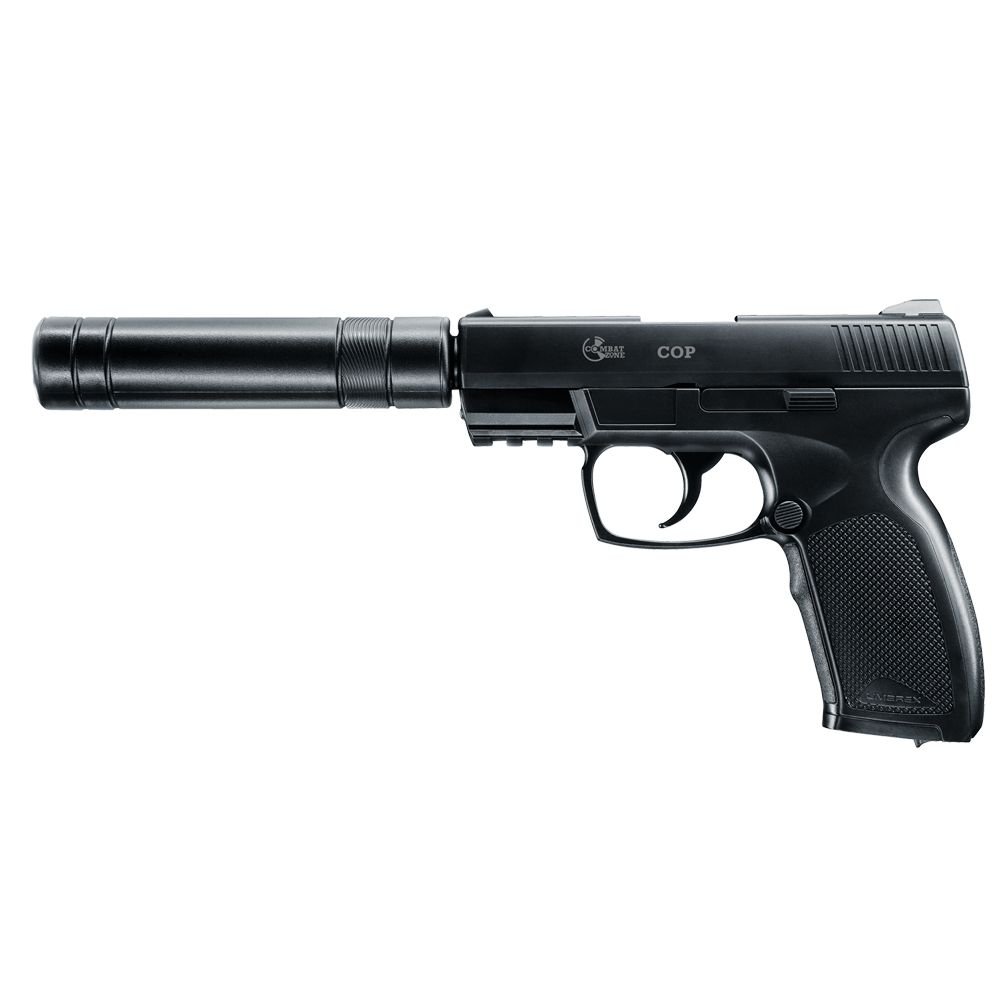 Pistola Combat Zone COP SK con moderador. Co2 - 6 mm