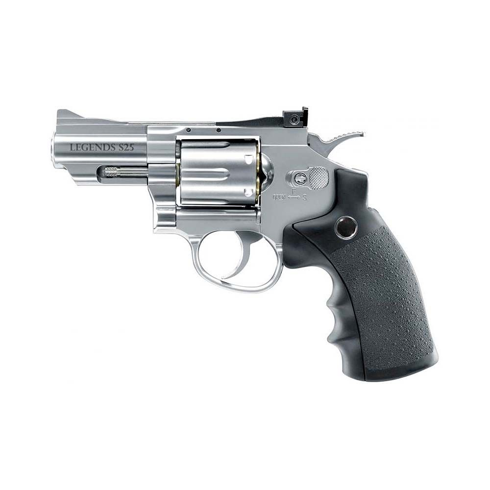 Revolver Legends S25 Fullmetal Co2 - 4,5 mm Balines