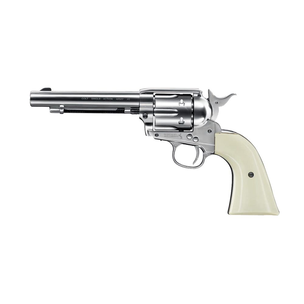 Peacemaker revolver Colt Single Action Army Nickel White Co2 - 4.5 mm BBs