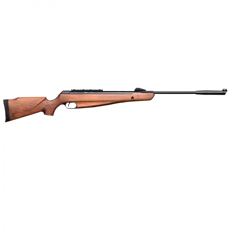 KRAL Air carbine N-07 walnut wood, gas piston with sound suppressor - 6.35 mm bullets 24 Joules