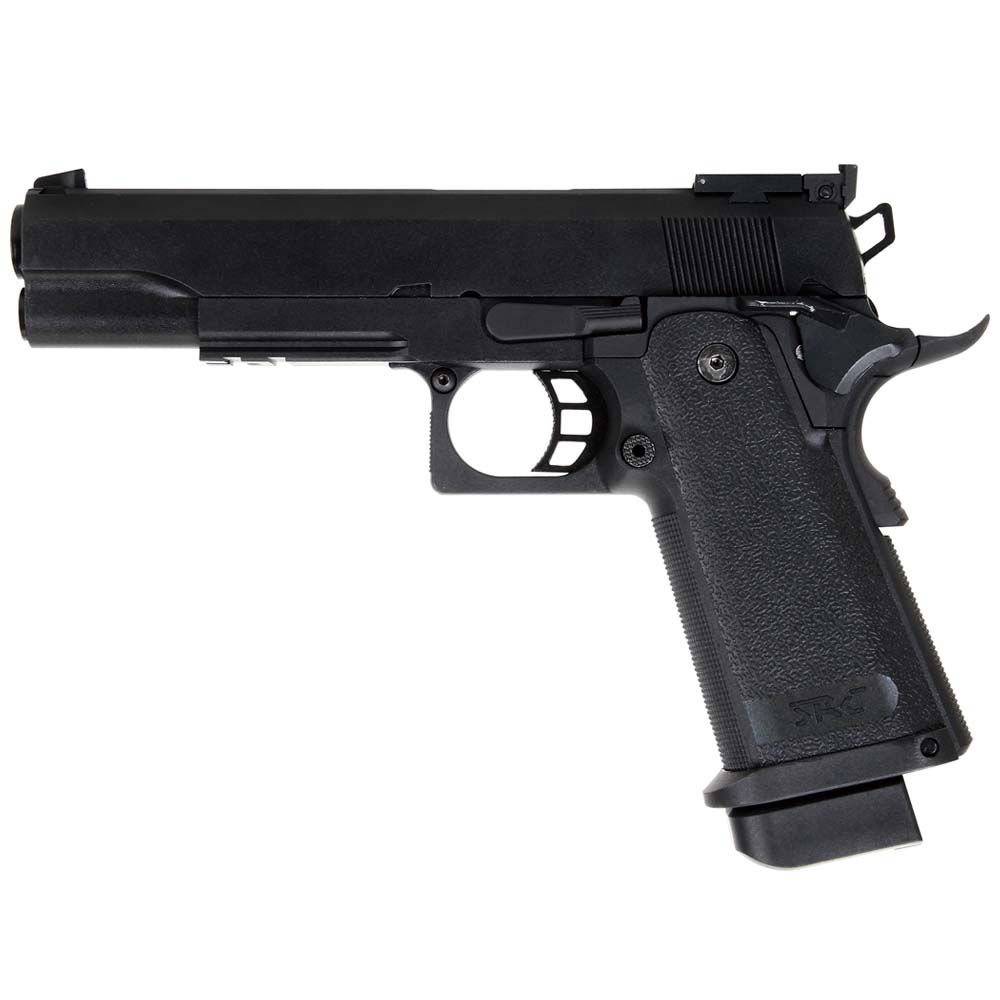 Pistola Hi-Capa 5.1 Black fullmetal GBB / CO2 - 6 mm