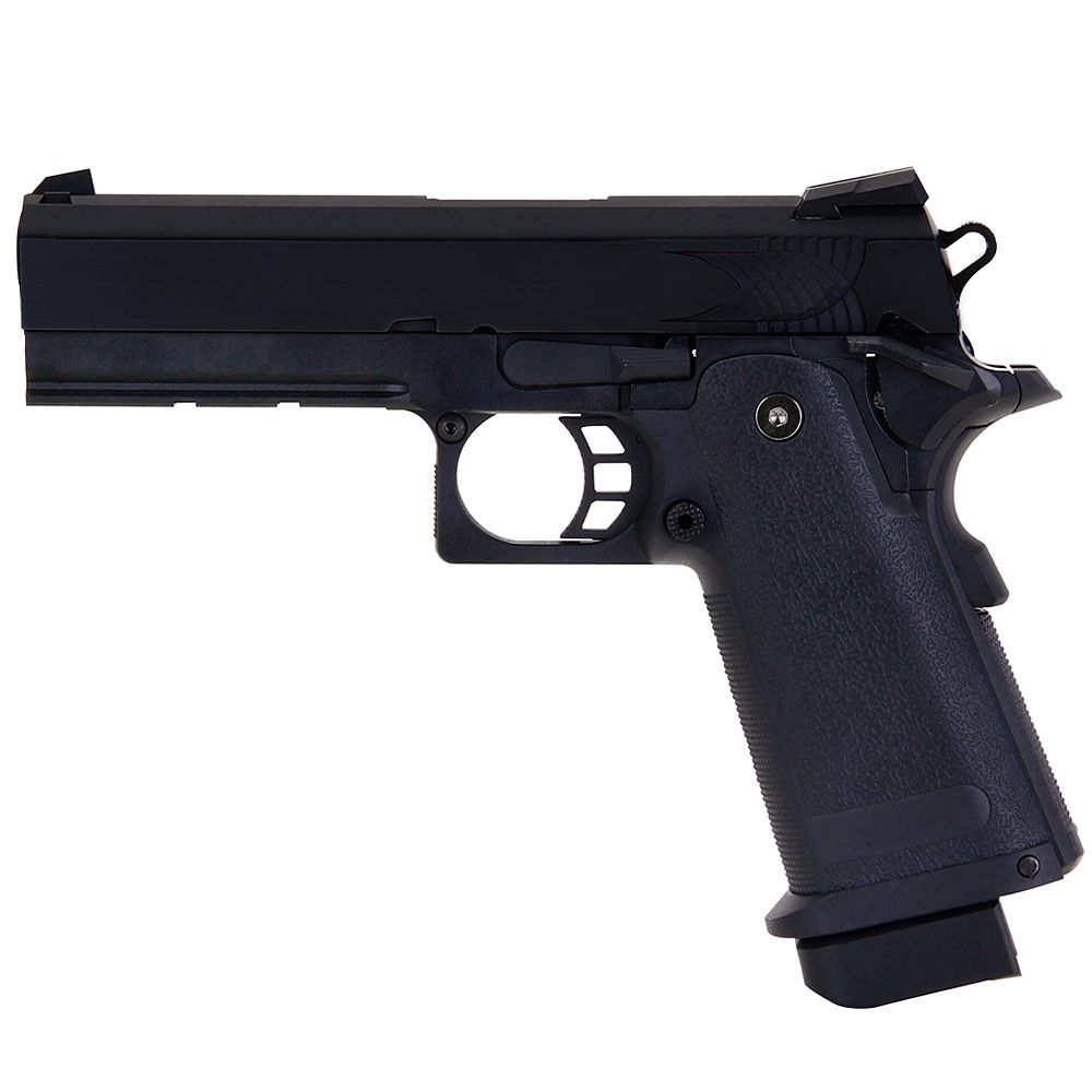 Pistola Hi-Capa 4.3 Black fullmetal GBB / CO2 - 6 mm