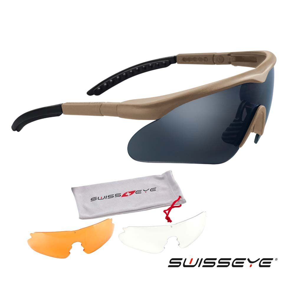 Glasses Kit Swisseye RAPTOR brown saddle