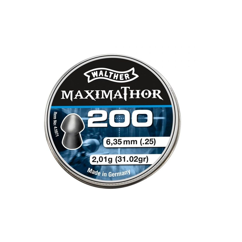Balines Walther MaximaThor 200 X 2 Pack - 6,35 mm - 2,01 g